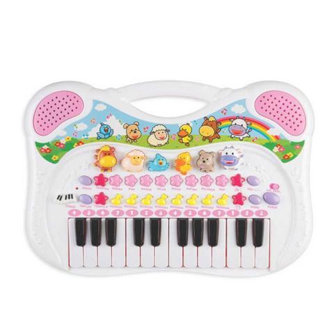 Imagem de Piano Teclado Musical Animal Infantil Fazendinha Braskit
