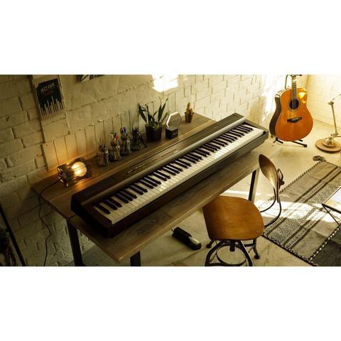 Imagem de Piano Yamaha P125B Digital Compacto Preto 88 Teclas Com Fonte