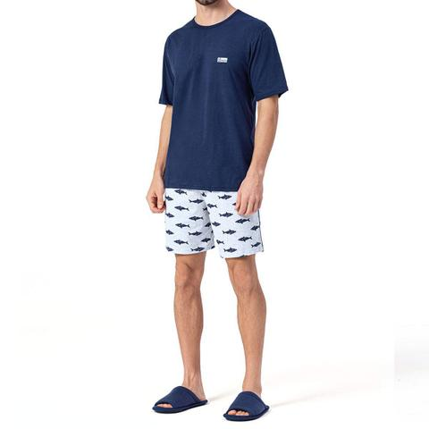 Imagem de Pijama Masculino Shorts Camiseta 12270017 Lua Encantada