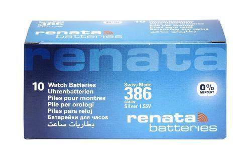Imagem de Pilha Bateria 386, Relógio 1.55v Renata Sr43w Original 10 Unid.
