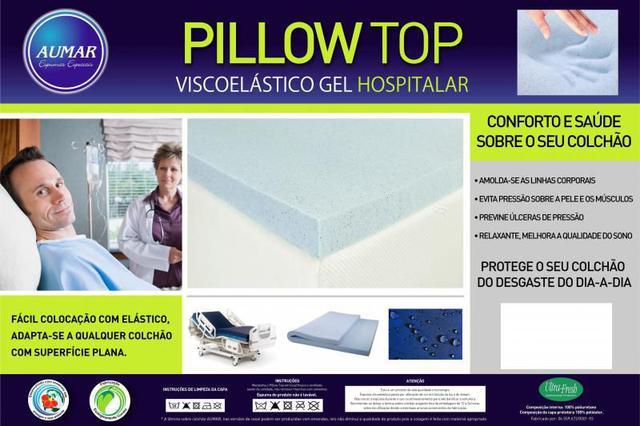 Imagem de Pillow top Hospitalar Anti Escaras Viscoelástico GEL Infusion 0,88 X 1,88 X 5