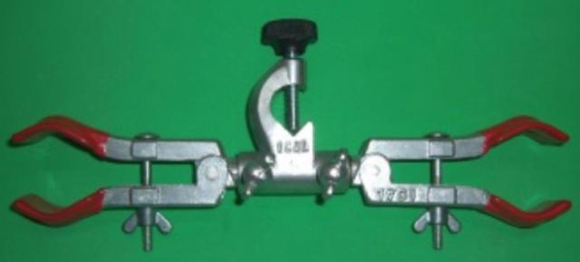 Imagem de Pinça dupla para bureta com mufa giratória