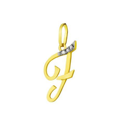 e2dccc7fe2c15 Pingente de Ouro 18k Letra F com diamantes pi16530 - Joiasgold ...