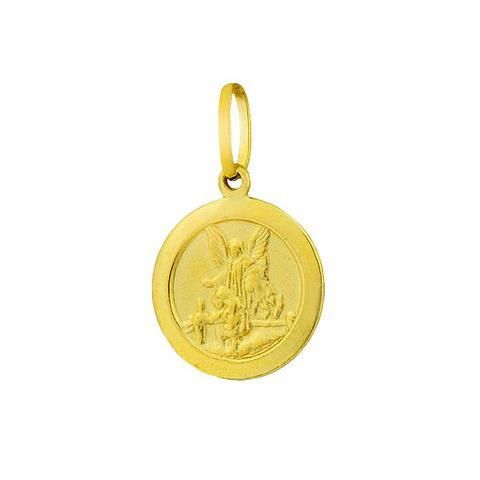 c119a6aa12682 Pingente de Ouro 18k Medalha Anjo da Guarda pi15756 - Joiasgold ...