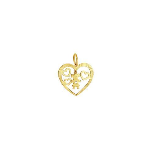 Imagem de Pingente em Ouro 18K Menina com Diamante - AU3292