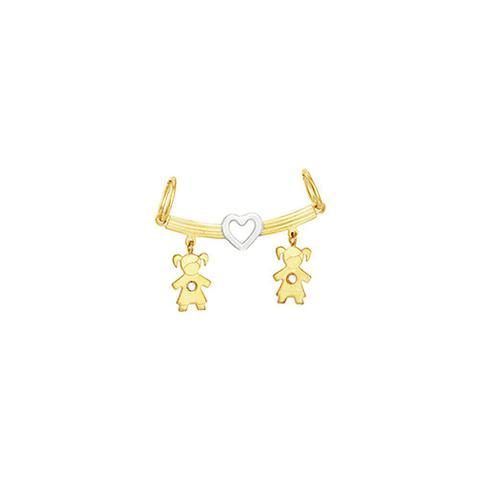 Imagem de Pingente em Ouro 18K Meninas com Diamante - AU3299