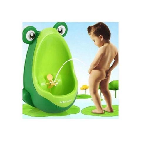 Imagem de Pinico mictorio infantil sapinho desfralde troninho bebe menino xixi com ventosa de parede portatil