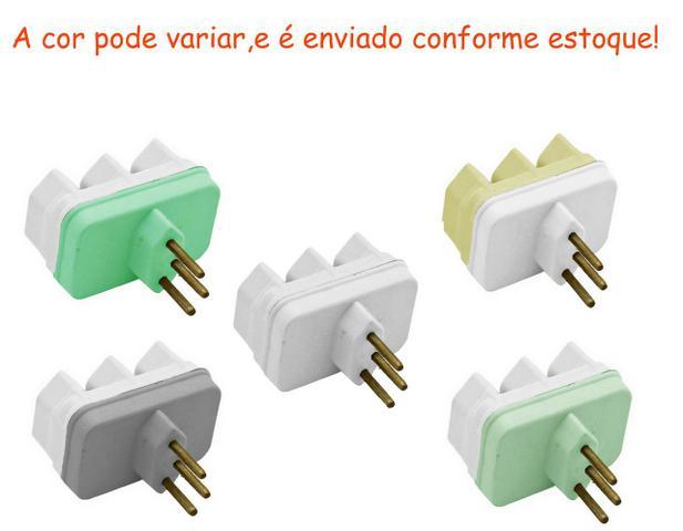 Imagem de Pino Adaptador 3 Pinos Tomada Elétrica Benjamim  Multiplicador de Tomadas