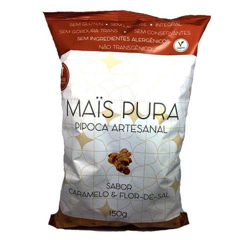 Imagem de Pipoca Artesanal Sabor Caramelo e Flor de Sal Mais Pura 150g