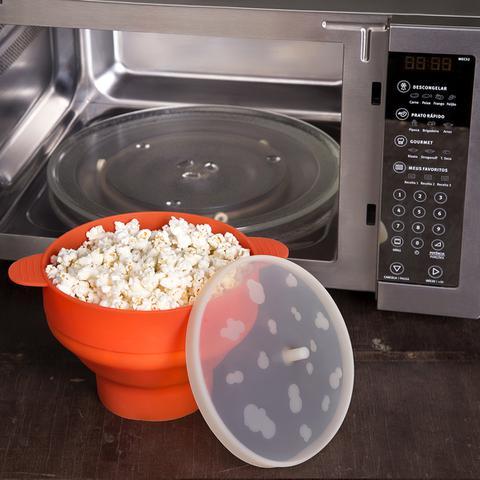 Imagem de Pipoqueira de Microondas Silicone Culinário 2,5l Vermelho Com Tampa