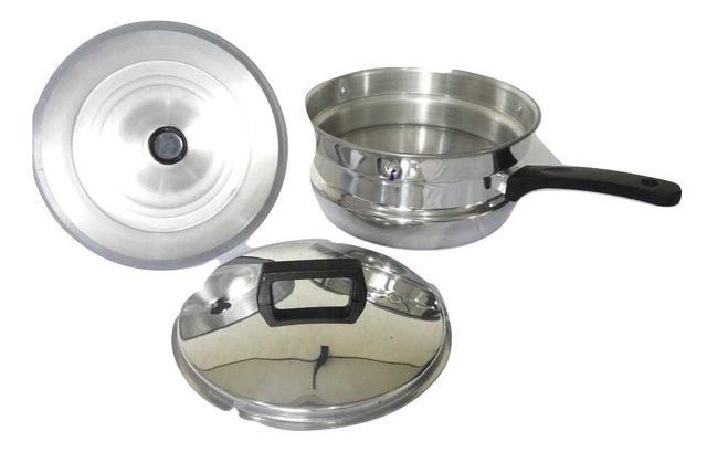 Imagem de Pipoqueira e Meia Pressão Com Forma De Pudim Aluminio Remaza