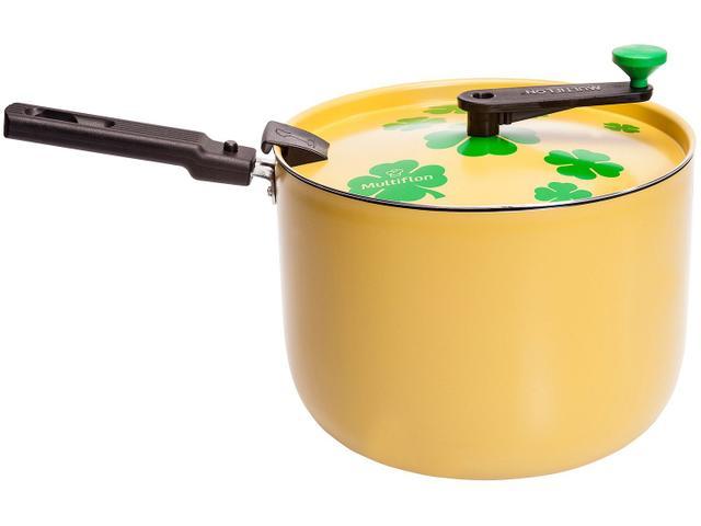 Imagem de Pipoqueira Multiflon Amarela Antiaderente
