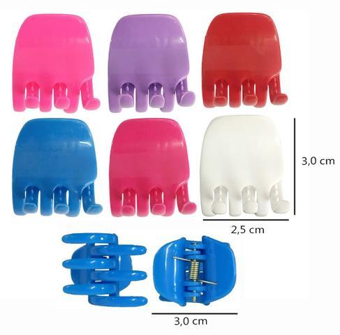 Imagem de Piranha Prendedor Para Cabelo Tamanho Médio - 12 Unidades - Coloridas