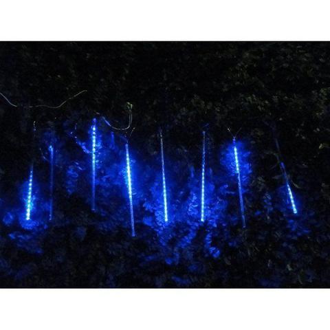 Imagem de Pisca Led Turbo Azul Snow Fall 50 cm 160 LEDs com 8 Tubos