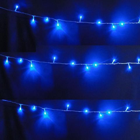 Imagem de Pisca Pisca 100 LEDs 10m Azul 110v 4 Fases Fio Transparente 1040