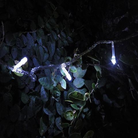 Imagem de Pisca Pisca 100 LEDs 10m Branco 110v 4 Fases Fio Transparente 1039