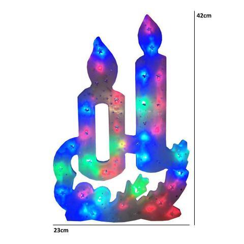 Imagem de Pisca Pisca Vela 35 Leds 110VOLTS RGB Colorido 42cm de Altura CBRN0661