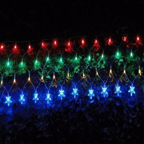 Imagem de Pisca rede natal led colorida estrela Rio de Ouro C/120l / 220V