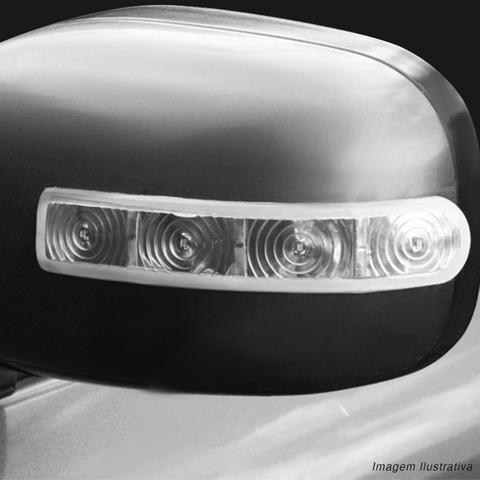 Imagem de Pisca Seta Retrovisor Universal Slim 4 LEDs 12V Luz Branca Fita Dupla Face