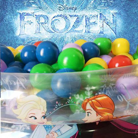 Imagem de Piscina De Bolinhas Infantil Inflável Frozen Com Bomba 50 Bolinhas