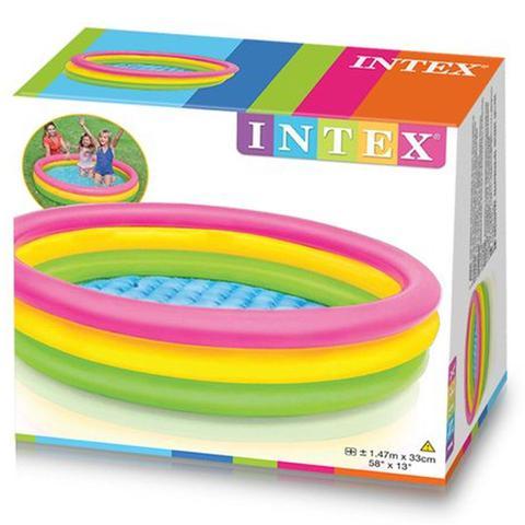 Imagem de Piscina de bolinhas infantil Inflável grande com 100 bolinhas intex  para criança