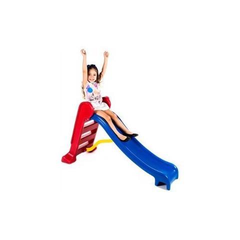 Imagem de Piscina de Bolinhas - Medidas  1,5m X 1,5m - Com 1.500 Bolinhas + Escorregador Médio Vermelho e Azul