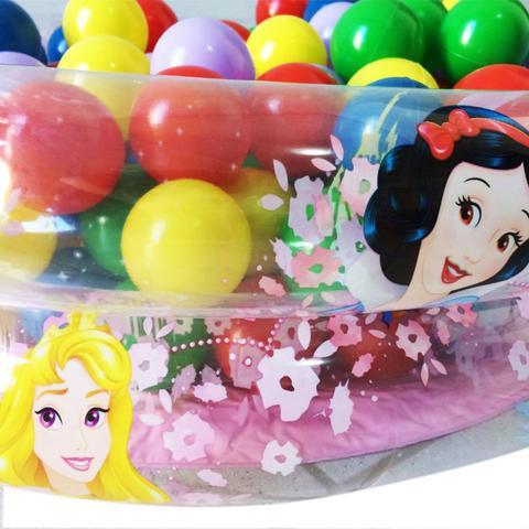 Imagem de Piscina De Bolinhas Princesas 70 Litros  50 Bolinhas Bomba