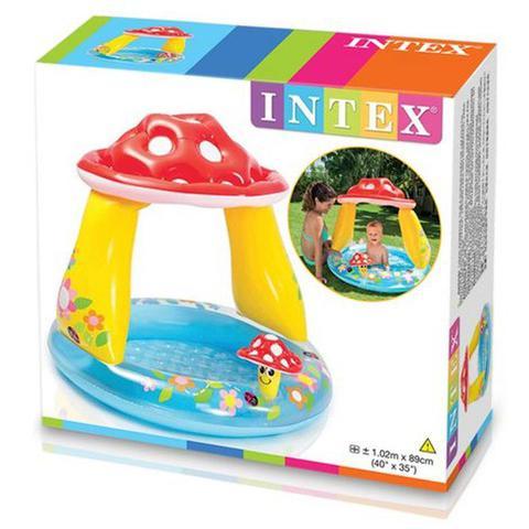 Imagem de Piscina Infantil Cogumelo com Cobertura 45 Litros - Intex