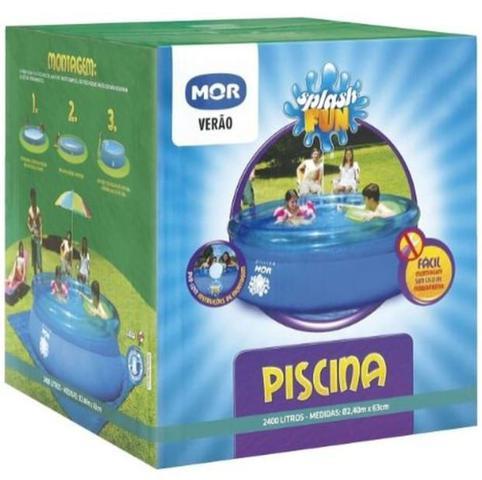 Imagem de Piscina Inflável 2400 Litros - Splash Fun - 63x240 cm - Mor UNICA