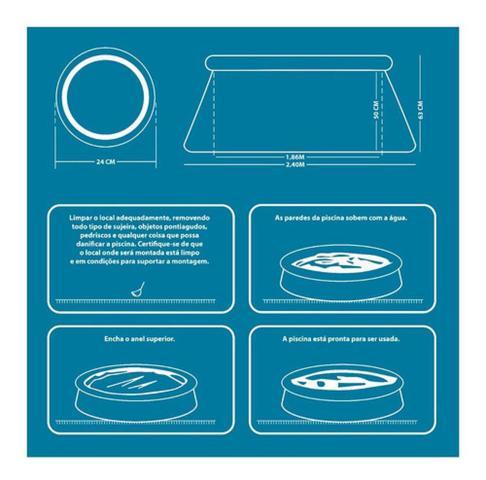 Imagem de Piscina inflável circular portátil 2500 litros es304 atrio