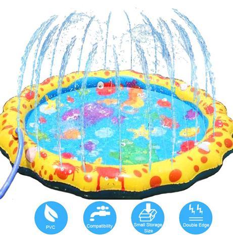 Imagem de Piscina inflavel spray de agua infantil tapete de atividades mc8002