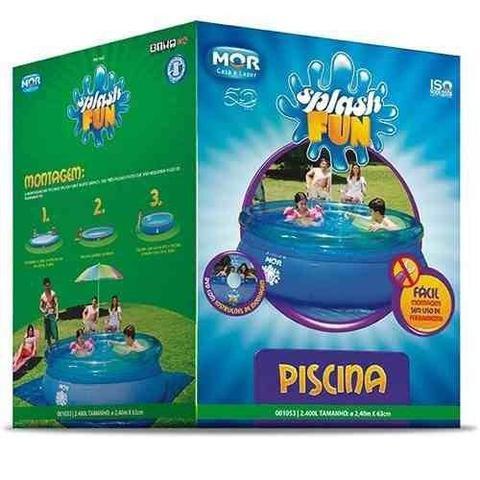 Imagem de Piscina Redonda 2400 Litros Inflável + Capa, Forro e Filtro 110V Mor
