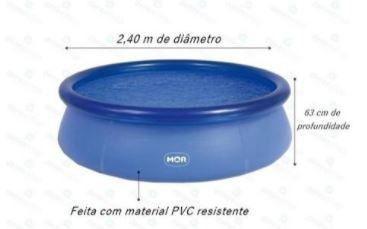 Imagem de Piscina redonda inflável 2400 litros 2,40m x 63cm marca MOR