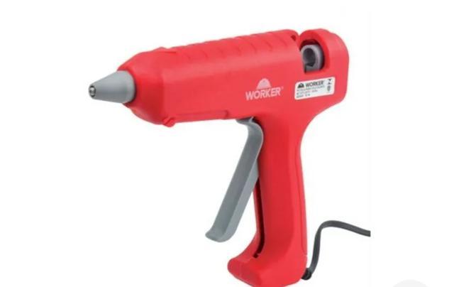 Imagem de Pistola Cola Quente 80w Worker Bivolt Artesanato Eletrica