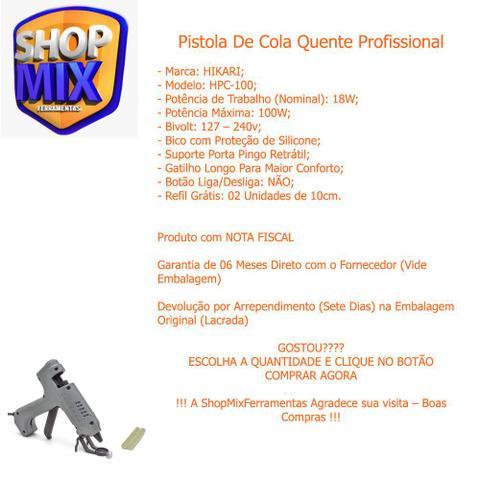 Imagem de Pistola de Cola Quente Profissional HPC-100 100W Bivolt - Hikari
