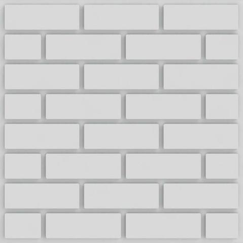 Imagem de Placa 3d Auto Adesiva Brick 50x50cm Poliestireno (PVC) 1,0mm
