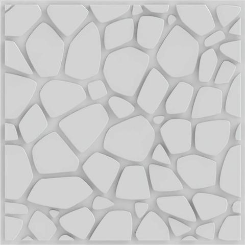 Imagem de Placa 3d Auto Adesiva Stones 50x50cm Poliestireno (PVC) 1,0mm