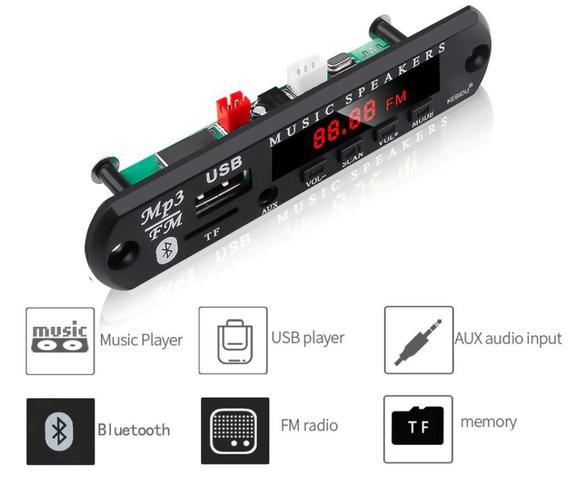 Imagem de Placa Amplificador 200w Rms + Decodificador Bluetooth 2x100w