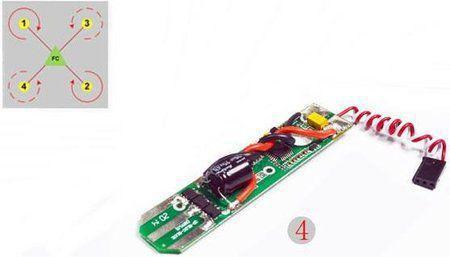 Imagem de Placa Controladora de velocidade Para Drone Free x fx4-024 ESC4 (Vermelha e branca)