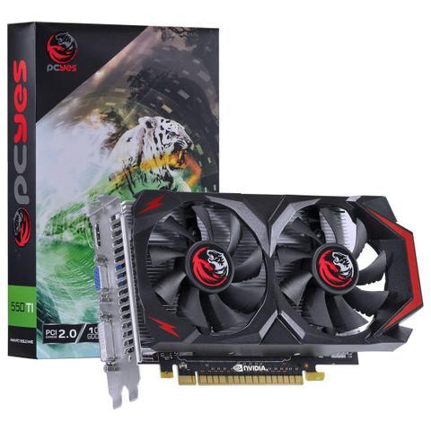 Imagem de Placa De Vídeo Pcyes PV55TX1GD5128DF Geforce Gtx 550 Ti 1Gb DDR5 128 Bits