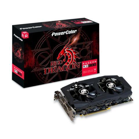Imagem de Placa de Vídeo Powercolor Radeon Red Dragon Rx580 8gb Gddr5 256 Bits - AXRX 580 8GBD5-3DHDV2/OC