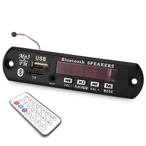 Imagem de Placa Decodificadora FM/USB/Auxiliar/Bluetooth + Controle Remoto