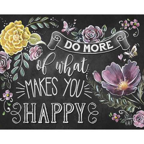 Imagem de Placa Decorativa Do More Of What Makes You Happy 24x19cm DHPM-189 - Litoarte