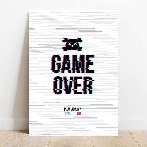 Imagem de Placa Decorativa Game Over