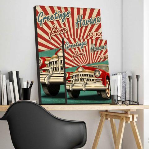 Imagem de Placa Decorativa Vintage Cuba - 30 cm x 40 cm