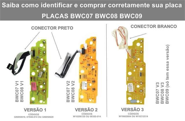 Imagem de PLACA E ADESIVO COMPATÍVEL COM MÁQUINA DE LAVAR ROUPAS BRASTEMP 8Kg BWC08A VERSÃO 1 BIVOLT