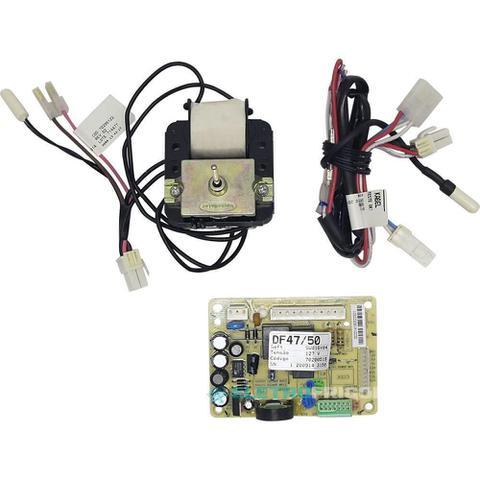 Imagem de Placa eletronica modulo de potencia geladeira electrolux 127v + motor ventilador + sensor degelo