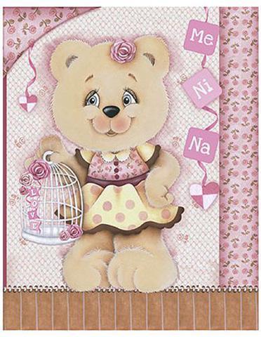 Imagem de Placa em MDF e Papel Decor Home Menina DHPM-045 - Litoarte
