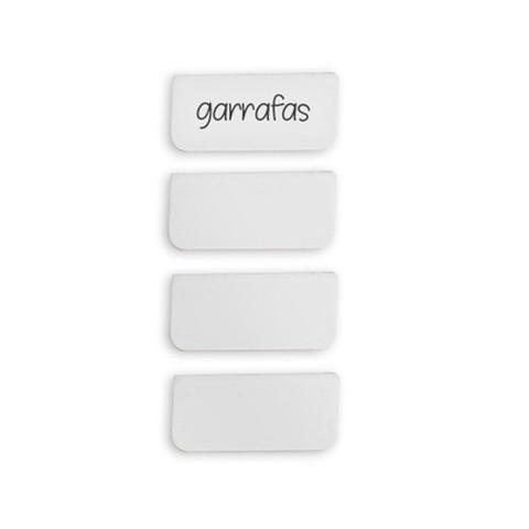 Imagem de Placa Identificadora OU Branco 4PÇS