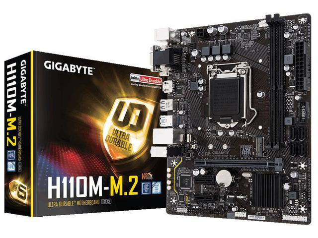 Imagem de Placa Mae LGA 1151 INTEL Gigabyte GA-H110M-M.2 MATX DDR4 2400MHZ M.2 HDMI USB 3.1